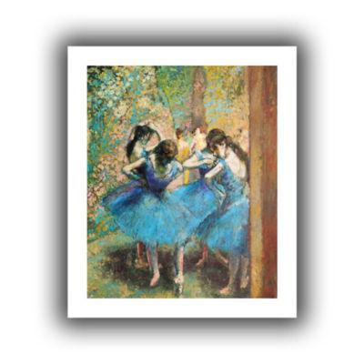 Brushstone Dancers in Blue Canvas Wall Art