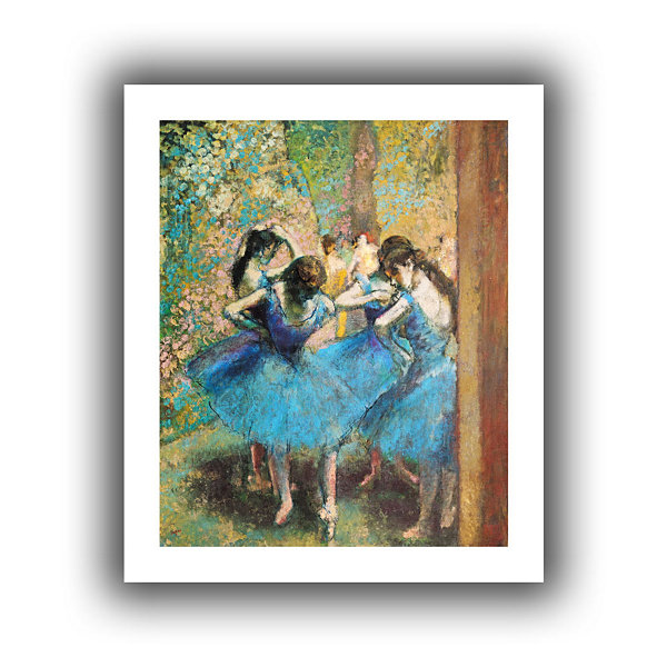 Brushstone Dancers in Blue Canvas Wall Art