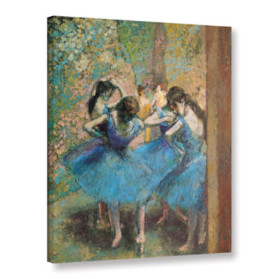 Brushstone Dancers in Blue Gallery Wrapped CanvasWall Art