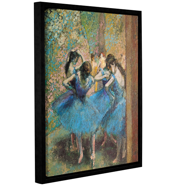 Brushstone Dancers in Blue Gallery Wrapped Floater-Framed Canvas Wall Art
