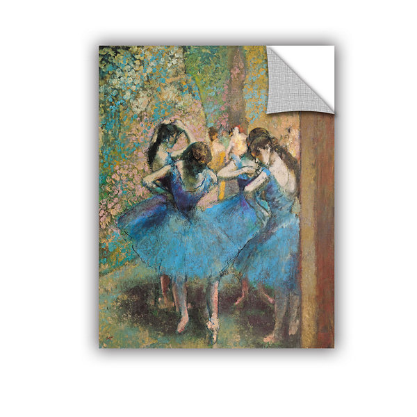 Brushstone Dancers in Blue Removable Wall Decal