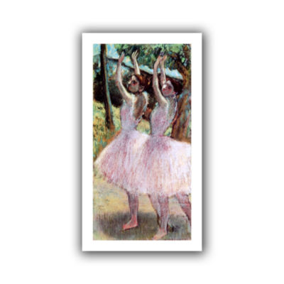 Brushstone Dancers in Violet Dresses  Arms RaisedCanvas Wall Art