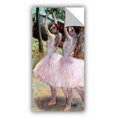Brushstone Dancers in Violet Dresses  Arms RaisedRemovable Wall Decal
