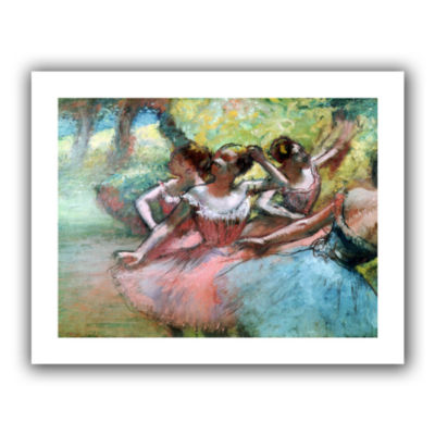 Brushstone Four Ballerinas on The Stage Canvas Wall Art