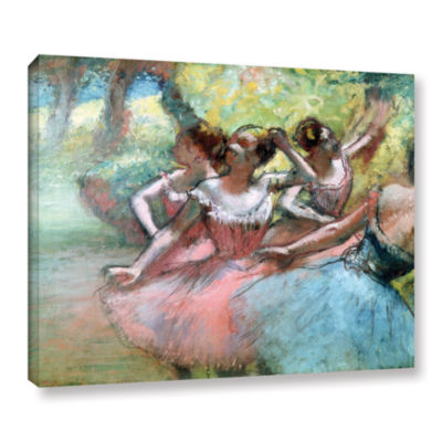 Brushstone Four Ballerinas on The Stage Gallery Wrapped Canvas Wall Art