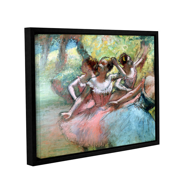 Brushstone Four Ballerinas on The Stage Gallery Wrapped Floater-Framed Canvas Wall Art