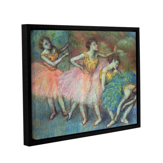 Brushstone Four Dancers Gallery Wrapped Floater-Framed Canvas Wall Art