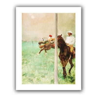 Brushstone Jockeys Before The Race Canvas Wall Art
