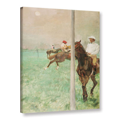 Brushstone Jockeys Before The Race Gallery WrappedCanvas Wall Art