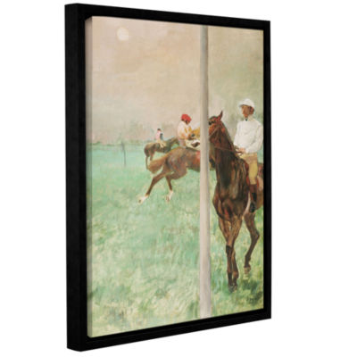 Brushstone Jockeys Before The Race Gallery WrappedFloater-Framed Canvas Wall Art