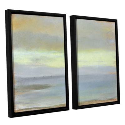 Brushstone Marine Sunset 2-pc. Floater Framed Canvas Wall Art