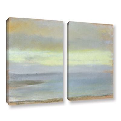 Brushstone Marine Sunset 2-pc. Gallery Wrapped Canvas Wall Art