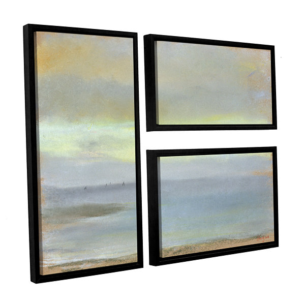 Brushstone Marine Sunset 3-pc. Flag Floater FramedCanvas Wall Art
