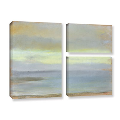Brushstone Marine Sunset 3-pc. Flag Gallery Wrapped Canvas Wall Art