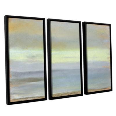 Brushstone Marine Sunset 3-pc. Floater Framed Canvas Wall Art