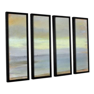 Brushstone Marine Sunset 4-pc. Floater Framed Canvas Wall Art