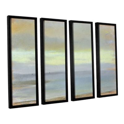 Brushstone Marine Sunset 4-pc. Floater Framed Canvas Wall Art