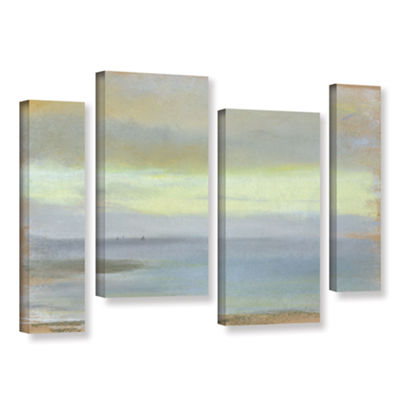 Brushstone Marine Sunset 4-pc. Gallery Wrapped Staggered Canvas Wall Art
