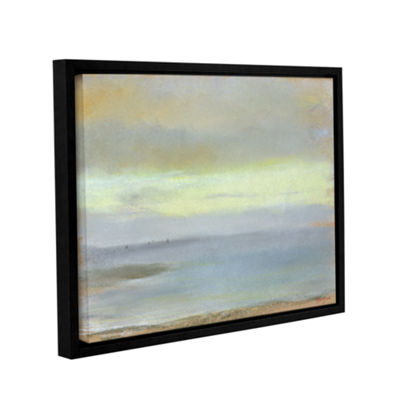 Brushstone Marine Sunset Gallery Wrapped Floater-Framed Canvas Wall Art