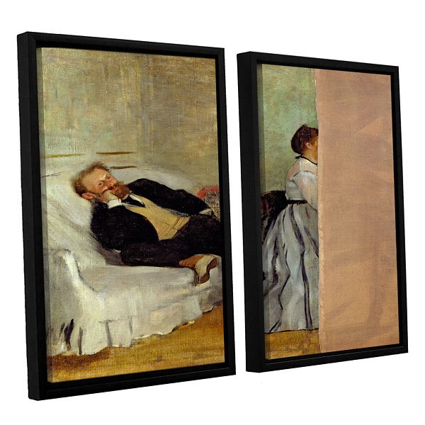 Brushstone Monsieur and Madame Edouard Manet 2-pc.Floater Framed Canvas Wall Art