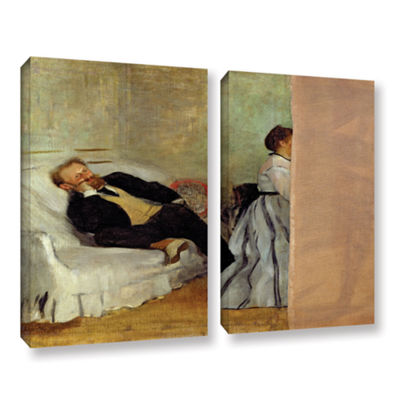 Brushstone Monsieur and Madame Edouard Manet 2-pc.Gallery Wrapped Canvas Wall Art