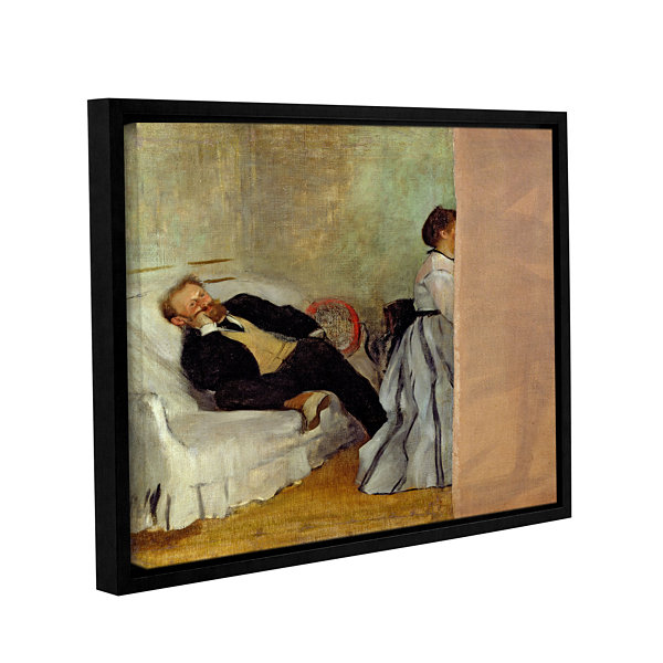 Brushstone Monsieur and Madame Edouard Manet Gallery Wrapped Floater-Framed Canvas Wall Art