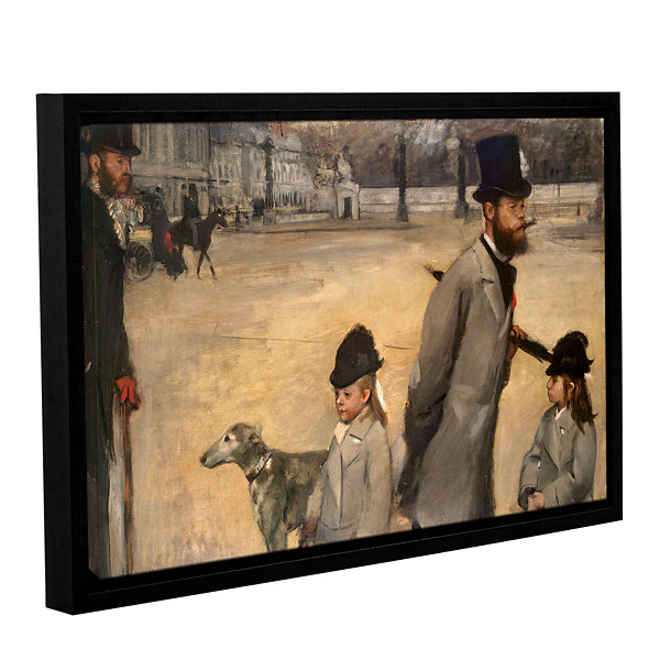 Brushstone Place de la Concorde Gallery Wrapped Floater-Framed Canvas Wall Art