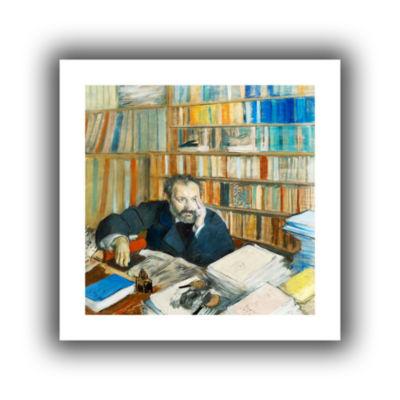 Brushstone Portrait of Edomond Duranty Canvas WallArt