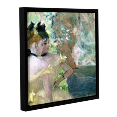 Brushstone Portrait of Edomond Duranty Gallery Wrapped Floater-Framed Canvas Wall Art