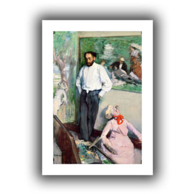 Brushstone Portrait of Henri Michel-Levy in his Studio Canvas Wall Art