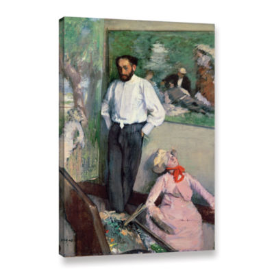 Brushstone Portrait of Henri Michel-Levy in his Studio Gallery Wrapped Canvas Wall Art