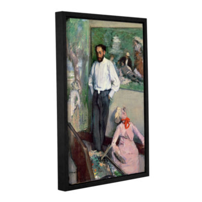 Brushstone Portrait of Henri Michel-Levy in his Studio Gallery Wrapped Floater-Framed Canvas Wall Art