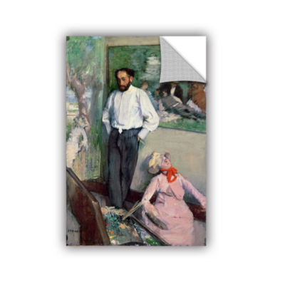 Brushstone Portrait of Henri Michel-Levy in his Studio Removable Wall Decal