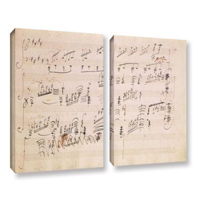 Brushstone Score Sheet of 'Moonlight Sonata' 2-pc.Gallery Wrapped Canvas Wall Art