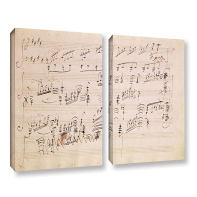 Brushstone Score Sheet of 'Moonlight Sonata' 2-pc.Gallery Wrapped Canvas Wall Art