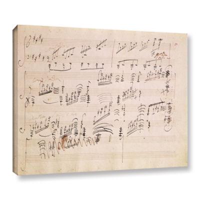 Brushstone Score Sheet of 'Moonlight Sonata' Gallery Wrapped Canvas Wall Art