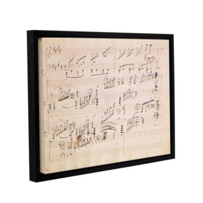 Brushstone Score Sheet of 'Moonlight Sonata' Gallery Wrapped Floater-Framed Canvas Wall Art