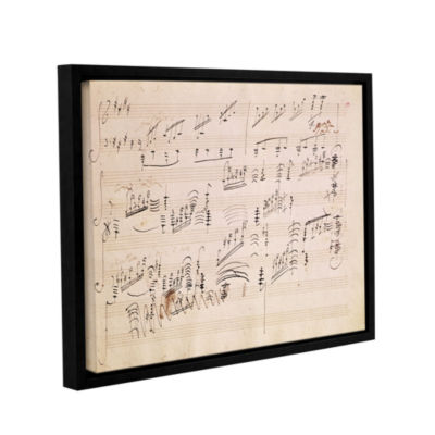 Brushstone Score Sheet of 'Moonlight Sonata' Gallery Wrapped Floater-Framed Canvas Wall Art
