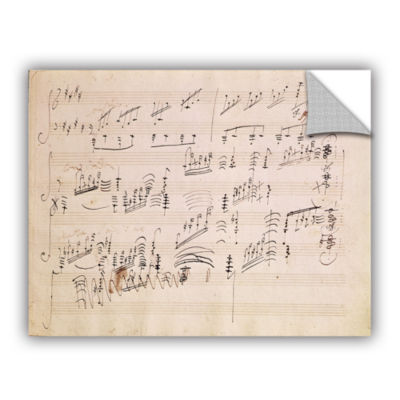 Brushstone Score Sheet of 'Moonlight Sonata' Removable Wall Decal