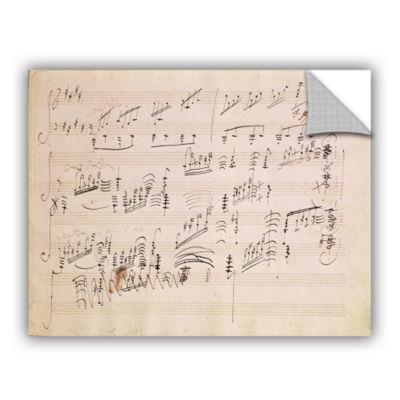 Brushstone Score Sheet of 'Moonlight Sonata' Removable Wall Decal