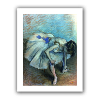 Brushstone Seated Dancer Canvas Wall Art
