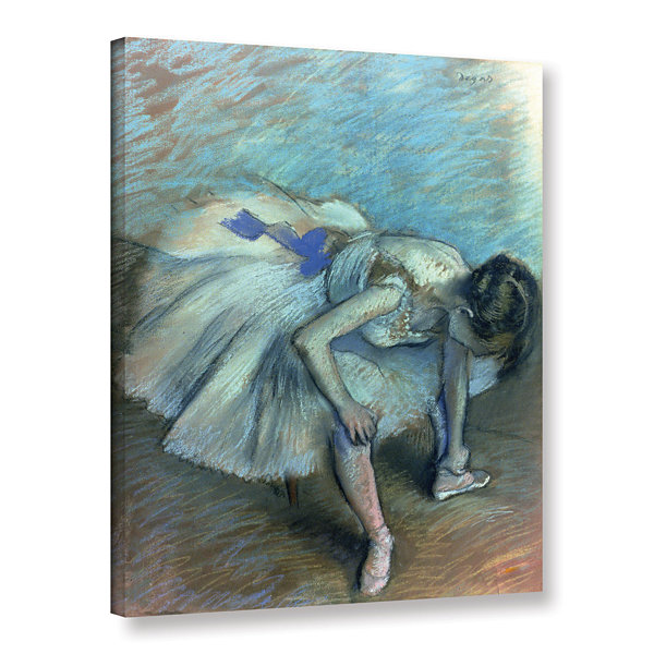 Brushstone Seated Dancer Gallery Wrapped Canvas Wall Art