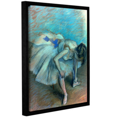 Brushstone Seated Dancer Gallery Wrapped Floater-Framed Canvas Wall Art