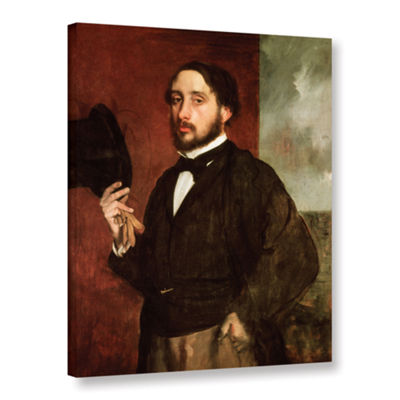 Brushstone Self Portrait Gallery Wrapped Canvas Wall Art