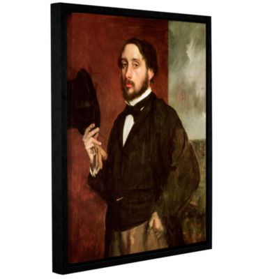 Brushstone Self Portrait Gallery Wrapped Floater-Framed Canvas Wall Art