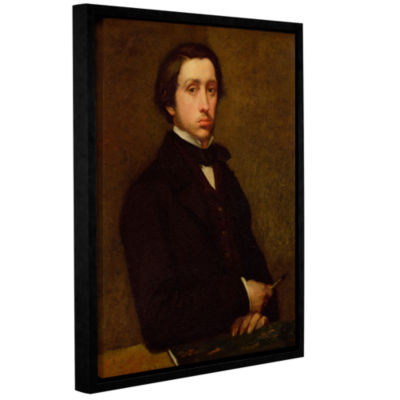 Brushstone Self Portrait II Gallery Wrapped Floater-Framed Canvas Wall Art