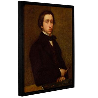 Brushstone Self Portrait II Gallery Wrapped Floater-Framed Canvas Wall Art