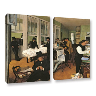 Brushstone The Cotton Office  New Orleans 2-pc. Gallery Wrapped Canvas Wall Art