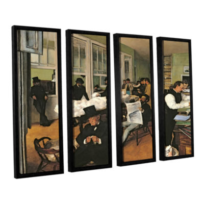 Brushstone The Cotton Office  New Orleans 4-pc. Floater Framed Canvas Wall Art