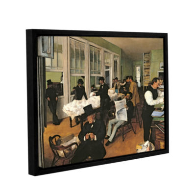 Brushstone The Cotton Office  New Orleans GalleryWrapped Floater-Framed Canvas Wall Art